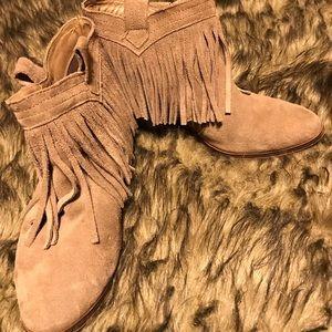 Women's fringe booties